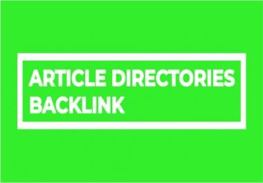 Provide 500 Article Directories Backlinks contextual backlinks