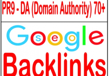 Provide PR9 - Domain Authority 70+ backlinks