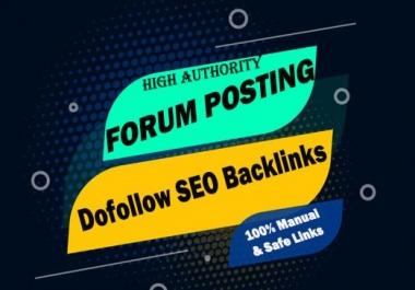 Submit Dofollow 40 Forum Profile Links to Skyrocket Website DA40-100