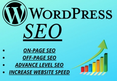 Complete WordPress On-page/Off-page SEO to increase your ranking