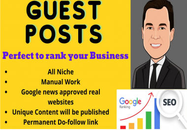 Do DA 60+ guest post on High DA website with Do-follow Backlinks with unique articles