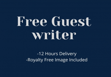 I will be publishing a Free guest post with Medium & Buzzfree and other sites.