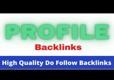 Profile backlink I will do manually 100, SEO Friendly listing for high ranking