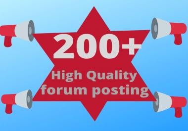 I will do 50 forum posting dofollow SEO backlinks link building