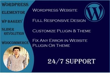 I will develop creative wordpress website and edit plugin or theme