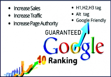 I will do google top ranking and SEO service monthly