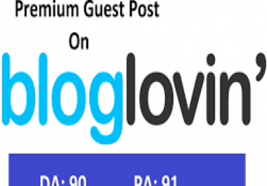 I will write and publish content on bloglovin.com