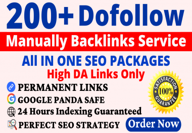 200+ Manual Dofollow Backlinks Web2, PBN, Profile, Wiki, Bookmark & Link Building Service
