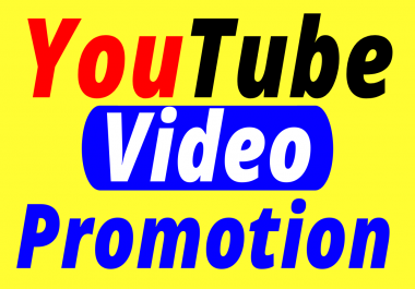 YouTube Video & Account Promotion Best Service for Boost Your Video Ranking