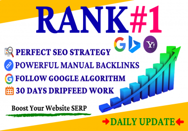 Boost Your Website Ranking 15 Days SEO Manually Backlinks To Rank Your Website on Google