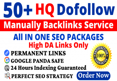 50+ Manual Dofollow Backlinks Web2, PBN, Profile, Wiki, Bookmark & Link Building Service