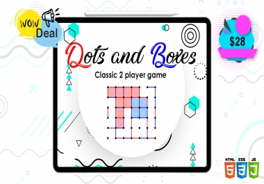 Dots and Boxes is a classic 2 player game, usually played with pen and paper.