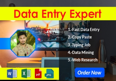 I will be your Data Entry Expert