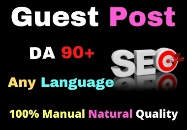 I will write and publish 5 guest post 5 Different Websites on DA 90+ high authority sites