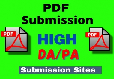 25 Best PDF submission Dofollow Backlinks Service