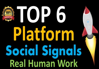 Mega Powerful 25,000 Social Signals for Top 6 Social Media Sites Get More Traffic to Your Website