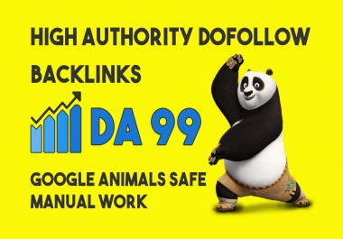create da 99 high quality dofollow SEO backlinks to boost your rankings