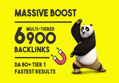 build 6900 high quality tiered contextual SEO backlinks