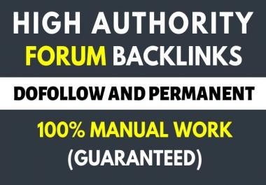 do forum posting backlinks 120 high quality links