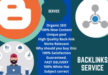 I will Provide 20 guest blog post for Back-link