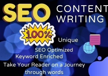 I will do professional SEO friendly Content Writing ,Blog Writing, Article Writing