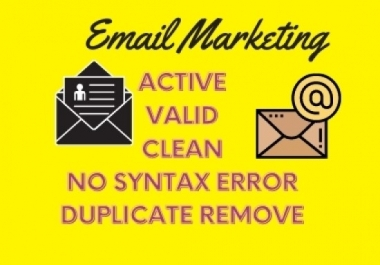 I will Collect 5k Niche targeted & Location targeted Email list for your Email marketing
