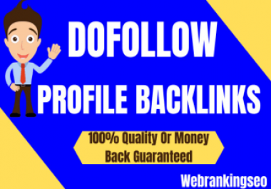 I will manually create 80 dofollow high quality profile backlinks for google top rankank