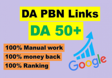 I will manully create 20 high DA 50+ parmanent homepage pbn backlinks