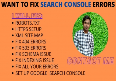 I will fix index coverage errors in Google search console