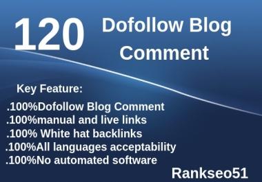 120 Blog Comment Unique Backlinks
