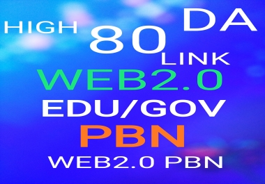 Create high DA web2.0 ,EDU/GOV, Permanant Homepage PBN and web2.0 pbn Backlinks