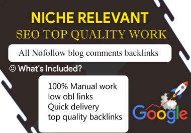 I will do 80 niche relevant high quality blog comments backlinks