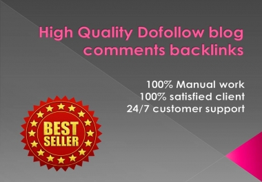 I will create 500 dofollow blog comments backlinks DA 30+