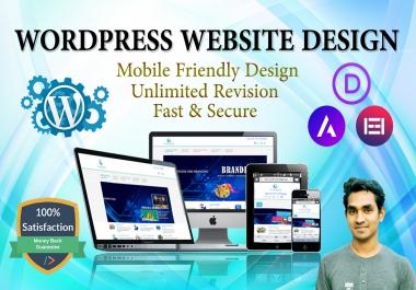 I will build a professional website on wordpress