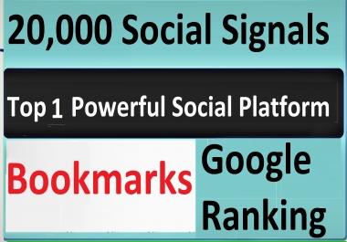 Give Top 1 Powerful Social Platform 20,000 PR9 SEO Social Signals Share Bookmarks Important Google