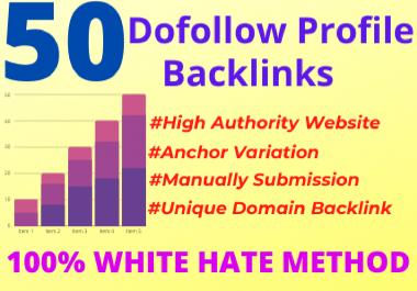 I Will Create 50 High Quality DA/PA 80+ Profile Backlinks Manually
