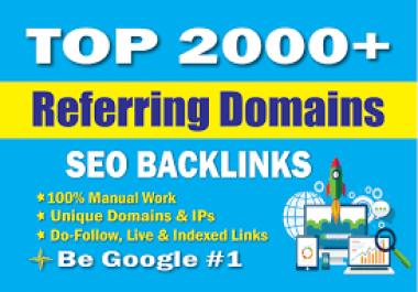 I will build 500 referring domain SEO backlinks for google ranking