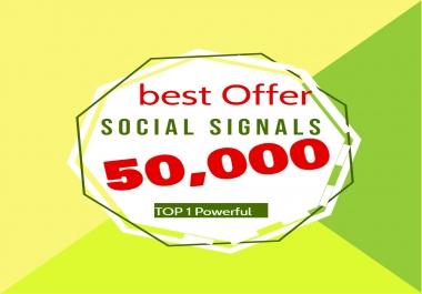 will do manual 50,000 Facebook social signals from 1 social media sites