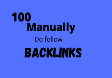 I will do manually 100 unique domain blog comments with high da