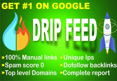 Create manual 30 days high quality dreepfeed off-page seo dofollow backlinks