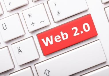 Create manual 100 web 2.0 pbn backlinks with HQ Metrics or zero spam