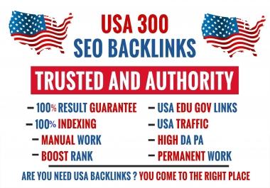 Create manual 300 pr9 usa dofollow backlinks