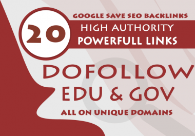 I will create 20 high authority edu Blog comments,link building service powerful website backlinks