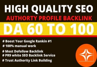 I will creat pr9 20 high authority profile backlinks
