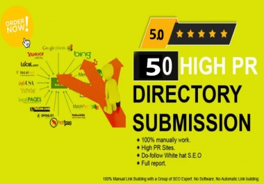 I will do 100 powerful manual directory submission backlinks (80+DA )