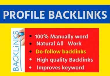 30 Profile Backlinks High Quality permanent link building unique backlinks