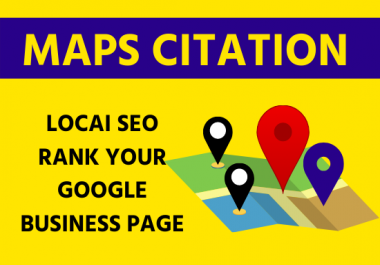 200 Google Maps Citation manually Directory submission, local listing local seo