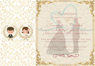 I will design amazing wedding invitations