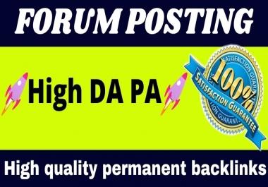 Manually Do 20 dofollow HQ Forum Posting Backlinks