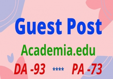 I will do guest post on Academia.edu manually